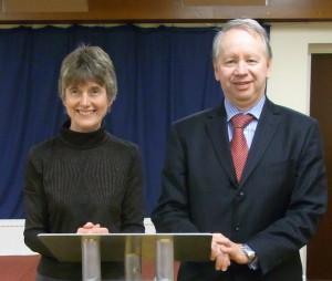 Sally Jenkins & Martin Fleet at West Midlands Area Speech Contest 2017